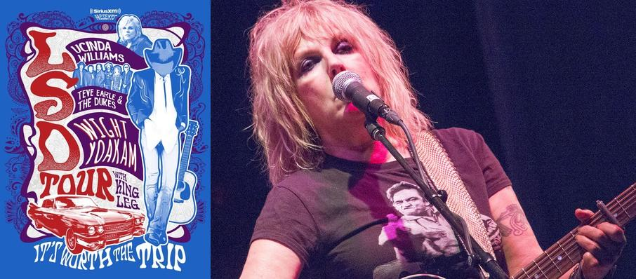 Lucinda Williams with Steve Earle and Dwight Yoakam at Red Hat Amphitheater